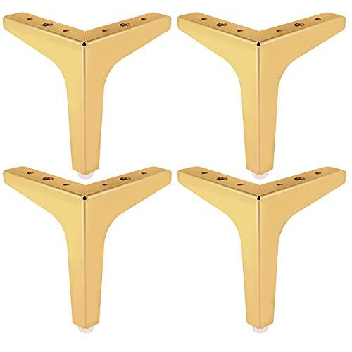 13cm Metall Möbelfüße, Btowin 4 Stück Eisen Diamant Dreieck DIY Tischbeine Schrankfüße für Schrank Sofa Couch Schreibtisch