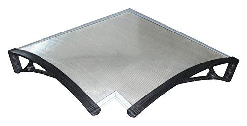 ARCHIMEDE yyang-i60Vordach Pultvordach Eck, Kunststoff, schwarz, Winkel innen für Tiefe 60
