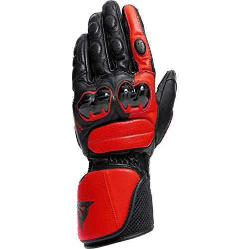 Dainese Motorradhandschuhe lang Motorrad Handschuh Impeto Handschuh schwarz/rot XL, Herren, Sportler, Ganzjährig, Leder