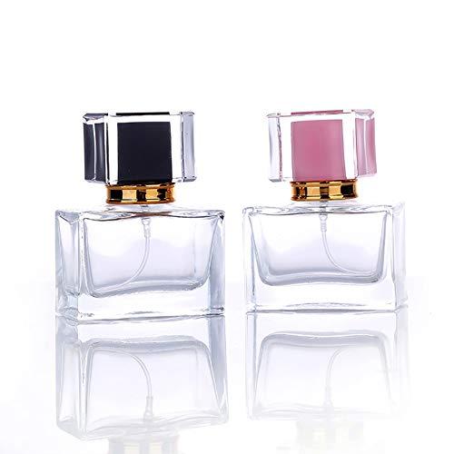 Botellas de perfume de 30 ml de Fucsiaan, frasco de perfume portátil transparente para viaje, recipiente vacío para perfume y fragancia de Aftershave