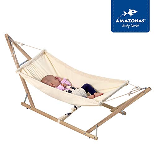 SCHMUSEWOLKE Federwiege Babyh/ängematte Babywiege Reisebett Ab der Geburt bis 3 Jahre 3 Sets Deckenbefestigung BIO-Baumwolle mit Kunstfaser-Matratze bis 18 kg