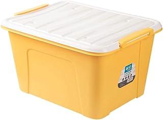 LCM Boîte de Rangement en Plastique Grande boîte de Rangement avec Couvercle Boîte de Rangement Domestique pour vêtements ...