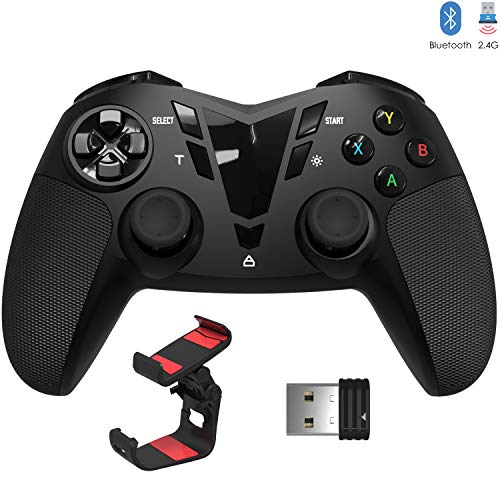 DELTA essentials Controller Wireless Bluetooth/2.4G, Doppia Vibrazione, Call of Duty Mobile PUBG Mobile Controller di Gioco Senza Fili Bluetooth Controller Joystick per Android OS/PC/Steam/PS3