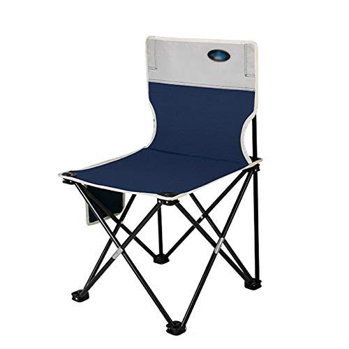 Outdoor Dark Blue Folding Chair, Portable and Comfortable, Can Be Used for Fishing, Outdoor Sketching, Camping D-20-10-26 (Size : Medium)