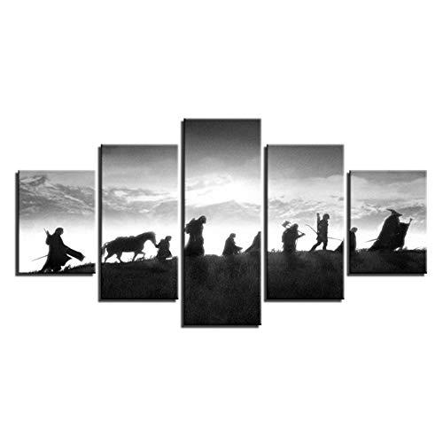 HD Wohnkultur Gedruckt Modulare Gemälde 5 Panel Herr Der Ringe Charakter Bilder Wandkunst Leinwand Moderne Poster-40x60 40x80 40x100 cm Kein Rahmen