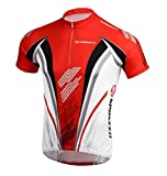 Bike Jersey Mens Biking Clothes Cycle Shirt Full Zip Bicycle Jacket Tops Size XL US Red