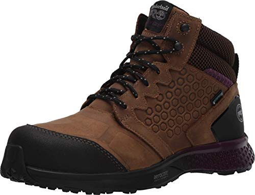 Timberland PRO Women's Reaxion Athletic Hiker Work Shoe Industrial Boot, Brown/Purple, 5.5