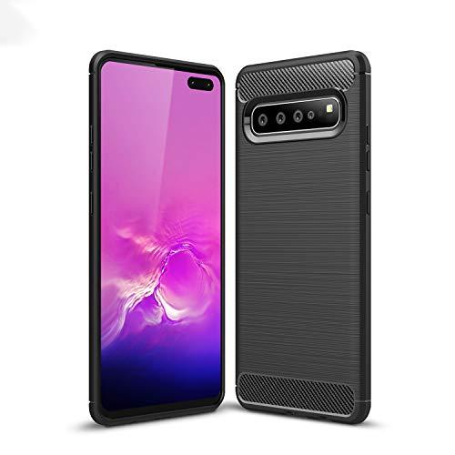 TianSY Samsung Galaxy S10 5G Hülle, Ultra Thin Tasche Cover Silikon Handyhülle Kratzfeste Stoßfest für Samsung Galaxy S10 5G Smartphone. Schwarz