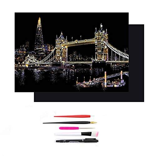 Rainbow Scratch Paper Art Kit, Color Scratch Off papier in een Kladblok, Perfect Gift voor meisjes of jongens, Travel Activiteit voor het vliegtuig of met de auto