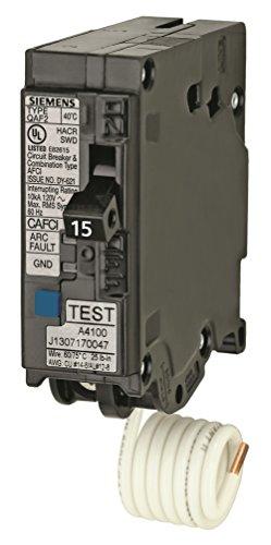 Siemens QA115AFCP 15-Amp Single Pole 120-volt Plug-On Combination AFCI Breaker