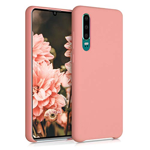 kwmobile Funda Compatible con Huawei P30 - Funda Carcasa de TPU para móvil - Cover Trasero en Coral