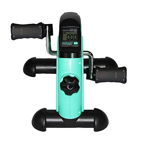 LKK-KK Pedal baja ejercitador mini bicicleta estática -Resistencia ajustable -debajo del escritorio bicicleta de pedales ejercitador de piernas y brazos Ejercicio