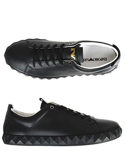 Emporio Armani Sneakers Diamond Cut Außensohle X4X211 XF187 schwarz (8, schwarz)