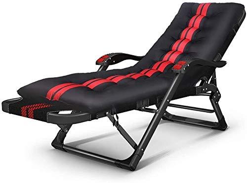 Silla para cuna, balcón, ocio, hogar, almuerzo, plegable, silla de oficina Siesta, cama viejo, respaldo de asiento respaldo, ajuste de ángulo, carga 200 kg