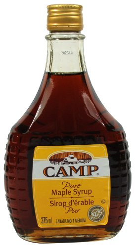 pure maple syrups Camp 100% Pure Maple Syrup Canadian No. 1 Medium, 375 Mililiters/12.7 Ounces