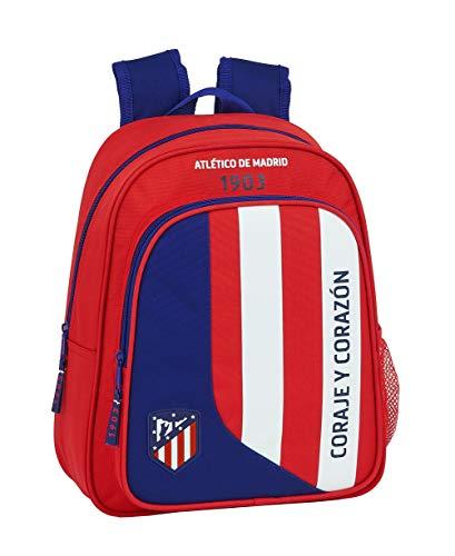 Mochila Safta Escolar Infantil de Atlético de Madrid, 270x100x330mm