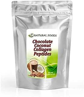 Chocolate Collagen Peptides Made With Coconut Milk - 5 lb - Delicious Taste + Zero Sugar Natural Protein Powder - Hydrolyzed Collagen + Organic Cacao + Coconut Milk Powder - Gluten Free & Non GMO