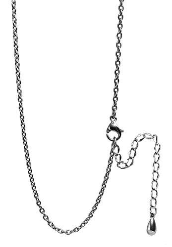 新宿銀の蔵 あずきチェーン 長さ40〜60cm (45cm アジャスター付き) 幅1.9mm チタン ネックレス チェーン レディース メンズ シンプル