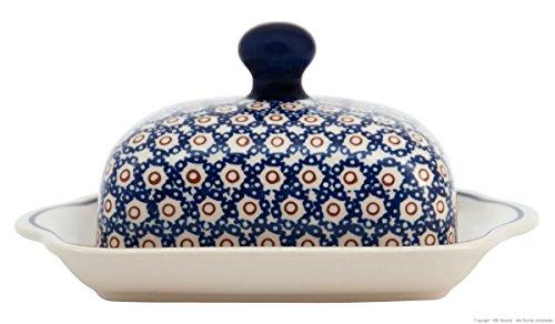 Original Bunzlauer Keramik Butterdose für 1 Stück Butter (250g) im Retro-Dekor 4