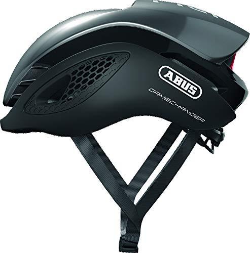 ABUS GameChanger Rennradhelm - Aerodynamischer Fahrradhelm mit optimalen Ventilationseigenschaften für Damen und Herren - 86824 - Dunkelgrau, Größe M