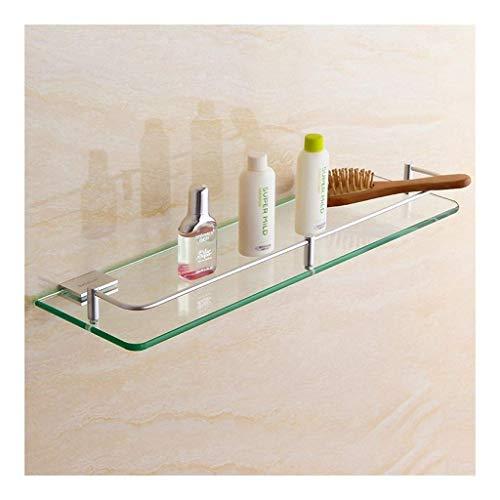 Rek handdoekhouder gehard glas vierkant bad plank met rail wand gemonteerd 7 8~23 inch ruimte aluminium geanodiseerd klaar (grootte: 20 cm) 250 cm.