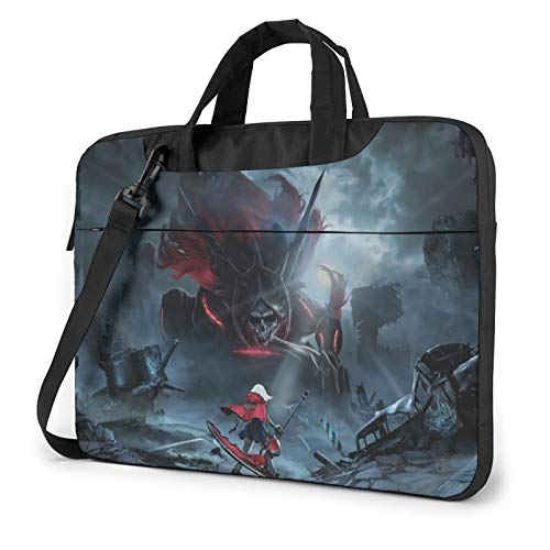 Anime God Eater Artwork Shockproof Large-Capacity Laptop Bag Briefcase with Soft Anti-Static Lining, Made of Oxford Cloth, 13 14 15 In 14 inch