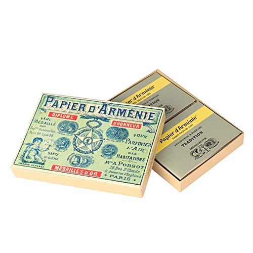Les Colis Noirs LCN - Boite 1900 Papier D'Arménie 12 Carnet Tradition - Parfum Désodorisant - 064