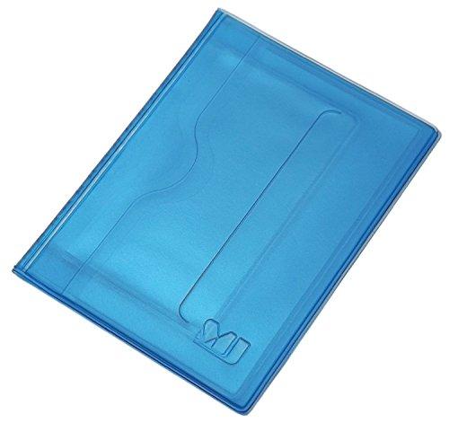 myledershop Praktisches Ausweisetui/Ausweishülle/Kreditkartenetui 10 Fächer MJ-Design-Germany in verschiedenen trendigen Farben Made in EU (Blau)