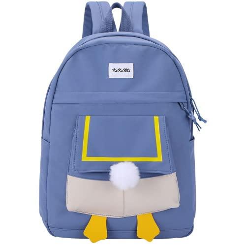 Moda de verano versión de hombro de patito mochila informal para estudiantes mochila de gran capacidad para salidas de primavera para niños (blue,42 * 32 * 13cm)