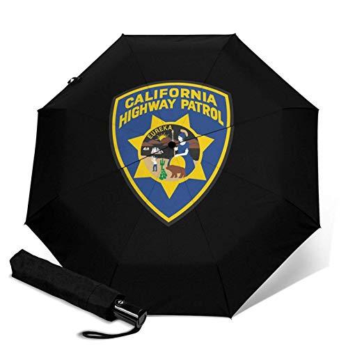 Sombrilla de la Patrulla de la Carretera de California Eureka BadgeAutomatica de tres pliegues Sombrilla parasol