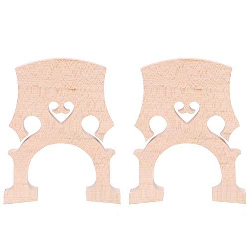 No Logo YSSP – 2 Stück 3/4 4/4 Regulär Komfort Ersatz Brücke Ahorn Teile DIY Zubehör für Musikinstrumente (4/4) Rosa