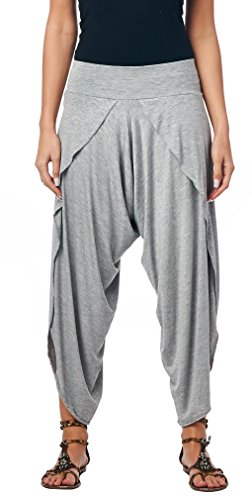 Popana Harem Yoga Palazzo Pants Pants XL in HeatherGray - Made in USA