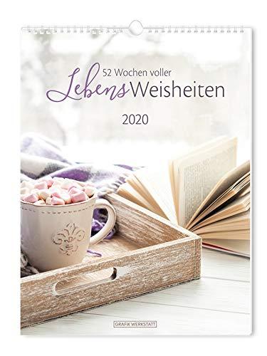 """Wochenkalender 2020 \""""LebensWeisheiten\"""": Wochenkalender groß"""