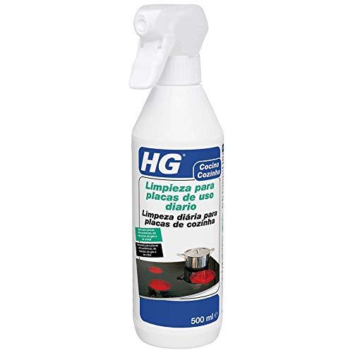 Hg Limpieza para Placas de Uso Rio, Elimina de Forma Fácil y Rápida la Suciedad Ria, Para Placas de Vitrocerámica, Inducción, Gas y Cristal, 500 Mililitros