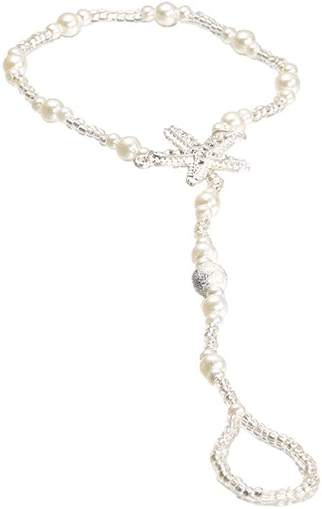 Toporchid Adjustable Starfish Finger Stretch Anklet Chain Jewellery Gift for Girls