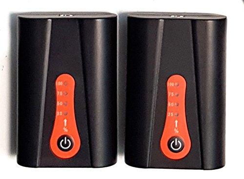 Thermrup Lot de 2 batteries de 2200 mAh pour semelle chauffante
