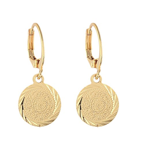 Gold Color Coin Earrings Muslim Islamic Jewelry Ancient Coin Arab African Style