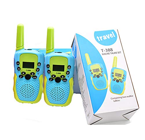 Kids Walkie Talkies 2 Pack 3 KMs Long Range 22 Channels10 Call Tones Best Gift RadioToy for 3-12 Year Old Boys Walky Talky Toy with Backlit for Boys and Girls to Outside Adventure,Camping, Hiking