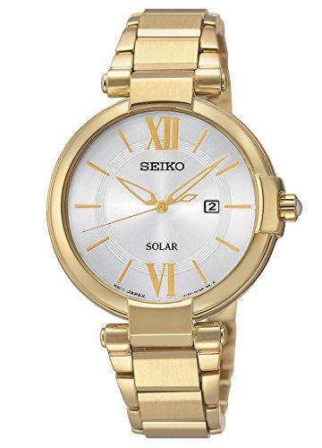 Seiko Damen-Armbanduhr Analog Quarz Edelstahl beschichtet SUT158P1