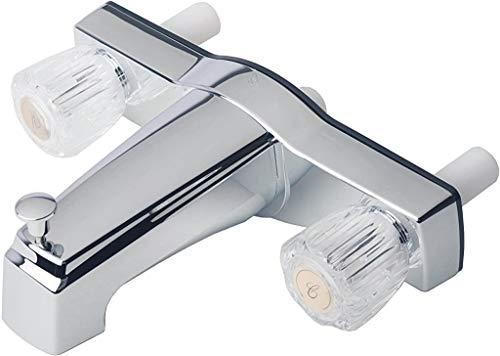Laguna Brass 3310ACP Mobile Home Two Handle Non-Metallic 8' Tub Shower Diverter, 8', Chrome Finish