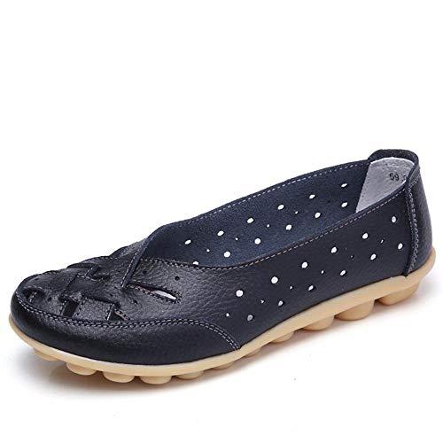 Mocasines para Mujer Ligero Loafers Casual Zapatillas Verano Zapatos del Barco Zapatos para Mujer Zapatos de Conducción Negro 40.5EU=42CN