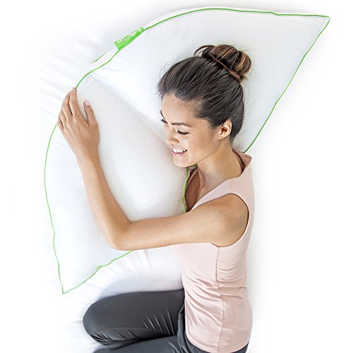 "Sleep Yoga Side Sleeper Pillow with Arm Support, 15"" x 30""/One Size, White"