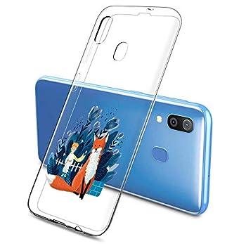 Oihxse Clair Case pour Samsung Galaxy A9 2108/A9 Stra Pro Coque Ultra Mince Transparent Souple TPU Gel Silicone Protecteur Housse Mignon Motif Dessin Anti-Choc Étui Bumper Cover (A5)