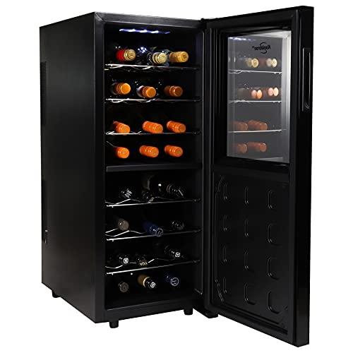 Koolatron WC24MG Urban Series 24 Bottle Dual Zone Cooler, Thermoelectric Fridge, Freestanding Wine Cellar for Home Bar, Kitchen, Apartment, Condo, Cottage, Standard, Black