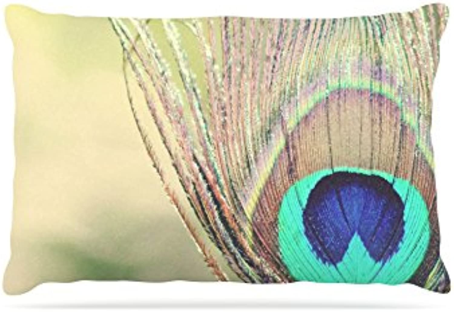 Kess InHouse Beth Engel Sun Kissed  Peacock Feather Fleece Dog Bed, 30 by 40