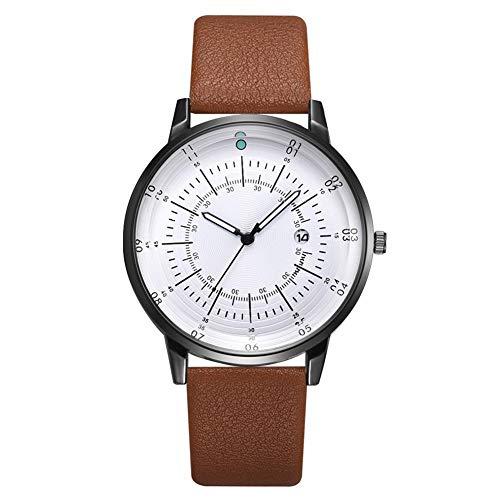 Juman634 Mode Quarz Uhren Multifunktionale Uhr Mit Kalender Business Herrenmode Trend Armbanduhr Mit Lederband