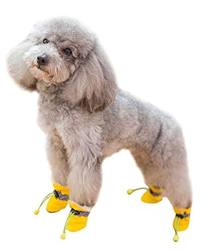 Pet Schoenen Hond Schoenen Schoenen met Zachte Zolen Waterdicht Anti-slip Anti-kras Schoenen Hond Voetovertrek Hond Zaalschoenen Plush Schoenen Herfst en Winter