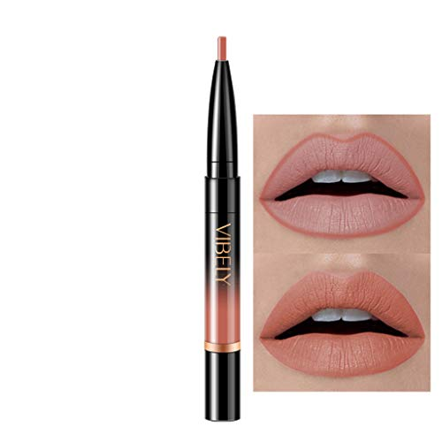 Lipliner und Lippenstift Duale Verwendung 16 Farbe, schwarz lipliner matt rot dunkel lipliner...