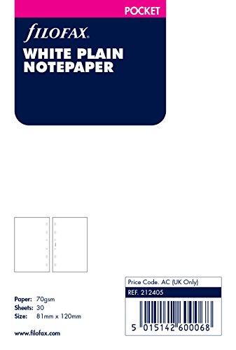 Filofax 212405 Pocket Notizpapier, blanko, weiß