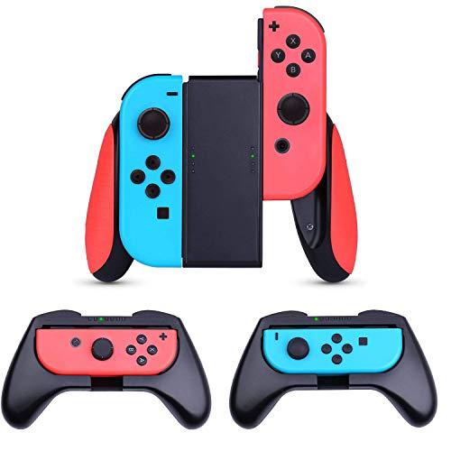 HEYSTOP JoyCon Grip Kompatibel mit Nintendo Switch, 3 Stück Komfort Gamepad Controller Schutzhülle Griff Kits für Nintendo Switch JoyCon